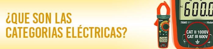 ¿Qué son las categorías eléctricas CAT?