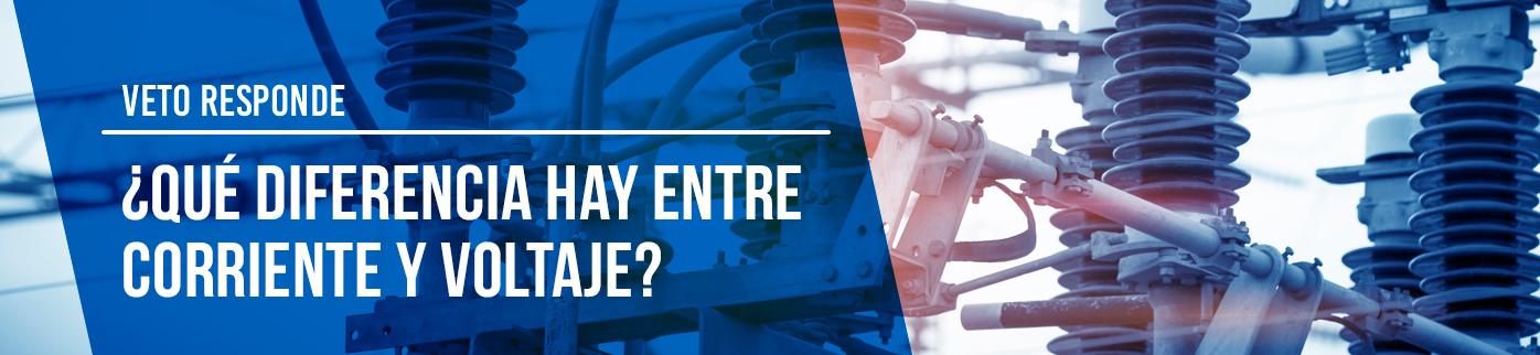¿Qué diferencia hay entre corriente y voltaje?